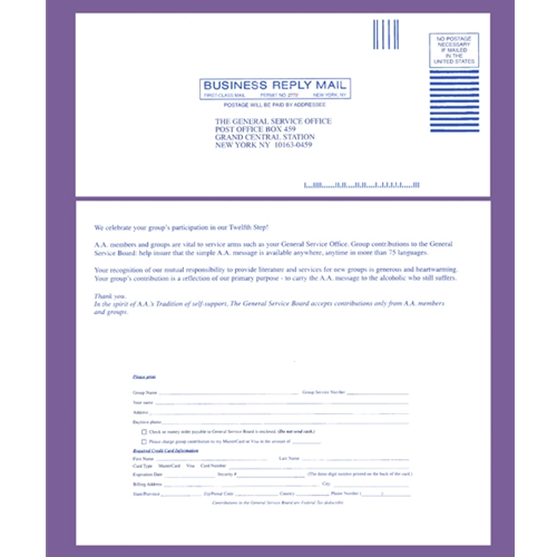 G.S.O. Contribution Envelopes